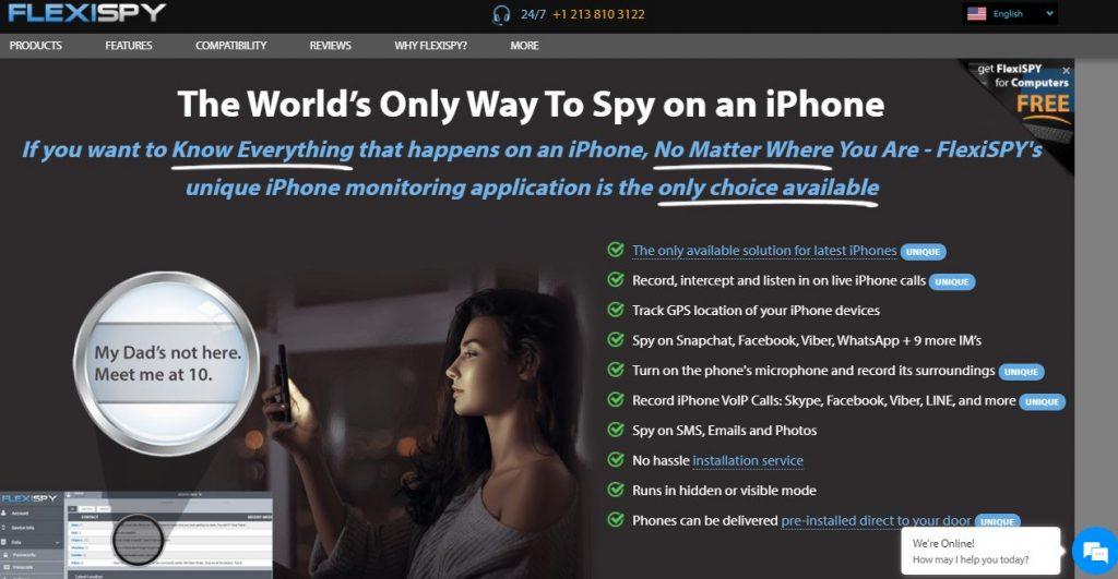flexispy iphone spyware