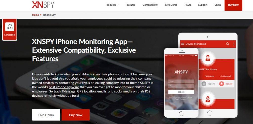 xnspy iphone spyware